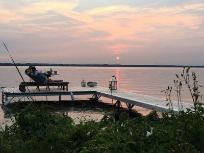 Photo for Waterfront Cottage on Lake Simcoe - Sunset views & stunning gardens