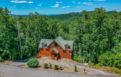 Photo for Secluded Gorgeous Cabin! 4 Master Suites/Private Baths/5BR6BA/View/HotTub/Games