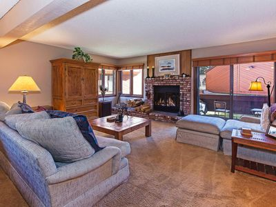 Photo for Charming vacation home walking distance to shuttle, private balcony & full kitch