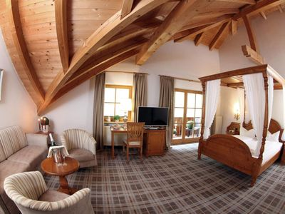 Photo for Superior Double Room (hillside and forest view) - Hotel Blaue Gams