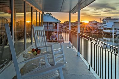 Vacation begins when you step foot on this waterfront balcony.