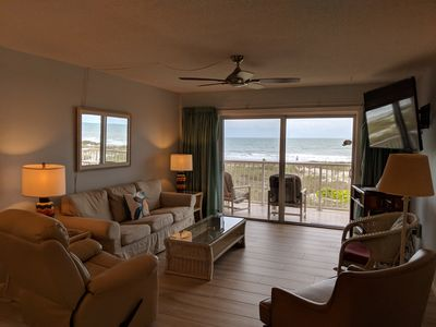 Spanish Main, Cocoa Beach.  Our living room with fabulous Oceanfront balcony.