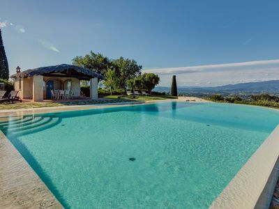Photo for Private Villa with private pool, A/C, WIFI, TV, patio, washing machine, panoramic view, parking