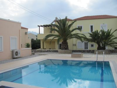 Photo for VILLA 500m to beach & tavernas, 2 shared pools, mountain views from balconies