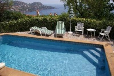 Photo for between cannes and st tropez, spledidview sea ,300yars beach,private swimminpool