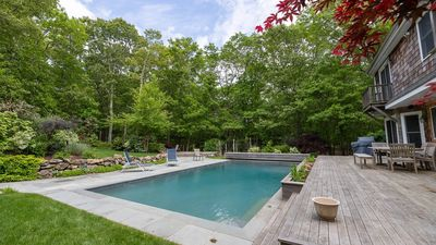 Photo for Serene Shingled Retreat on 2 Wooded Acres, Outdoor Tranquility w/ Koi Pond & Tree-Shaded Pool & Deck