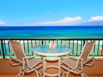 Photo for Direct Ocean Front~Maui-Kaanapali~Spectacular Sunsets~ Gorgeous View~NO FEES!