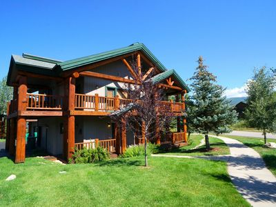 Photo for 2bd/2BA + Private Hot Tub + Huge Deck with Views + Rent 4nts, 5th FREE