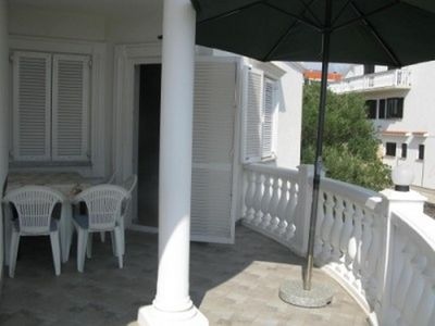 Photo for Studio flat with terrace and sea view Barbat, Rab (AS-16816-a)