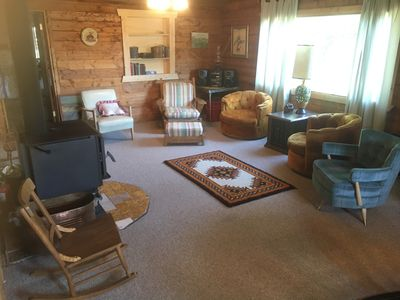 Photo for Wapiti cabin on Green Creek. 25 miles from the East Entrance to Yellowstone.