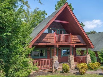 Photo for NEW LISTING! Dog-friendly cottage w/hot tub, deck, fireplace & pool table