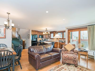 Photo for Steps to Lift 7, Gorgeous Views, Private Deck just off the River Trail