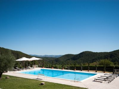 Photo for Newly renovated Tuscan Villa with private pool and tennis. Breathtaking views.