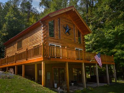 Photo for Centrally located log home that is dog friendly!