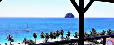 Photo for Sublime 180 ° view of the Diamant bay! Beach at 150m!  Swimming pool