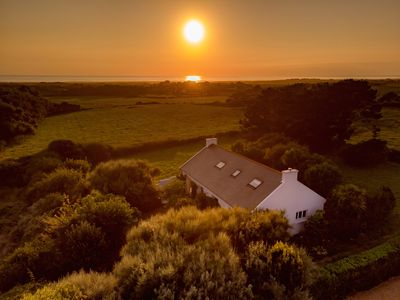 Photo for Beautiful large house with sea view in Tréogat, Finistere
