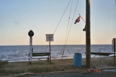 View across Long Island Sound from Seaside Avenue at base of Post Ave.