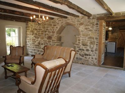 Photo for Luxury cottage with Private Heated pool, near Dinan, St Malo, Dinard...