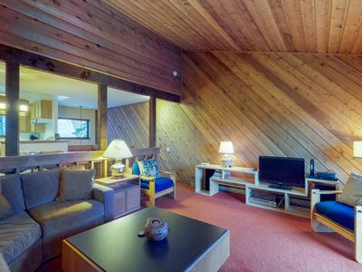 Photo for NEW LISTING! Cozy condo w/ mountain views & a shared pool, hot tub, & sauna!