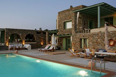 Enjoy memorable evenings by the pool. For larger groups  also book Villa Martha