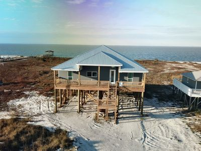 Photo for New! Bayfront Home with private Bay beach, across from the Gulf of Mexico beach!