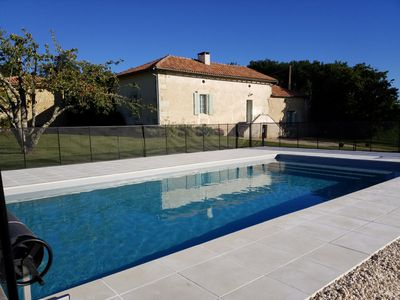 Photo for Beautiful country house with pool, magnificent views of the countryside,