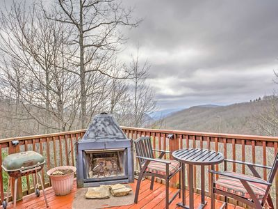 Photo for Mountain Cabin in Maggie Valley w/ Forest Views!