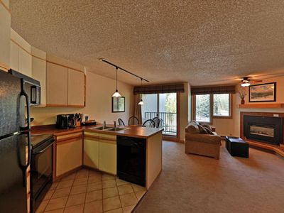 Photo for Ski In/out studio with balcony, covered parking, & access to heated pool/hot tub