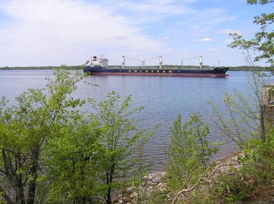 Panoramic view of the St. Lawrence River