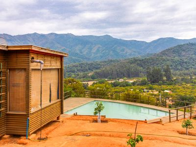 Photo for Gorgeous, dog-friendly home with a private swimming pool & mountain views!