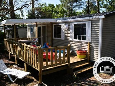 Photo for Camping Club Les Viviers **** - Maeva Camping - Mobil Home Luxury Ferret 4 Rooms 6/8 Pers Clim
