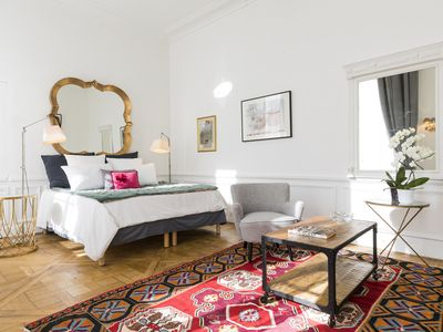 Photo for Luxury Large Duplex:  3  BR ( 1 XXL BR)  on the edge of  Seine across Louvre