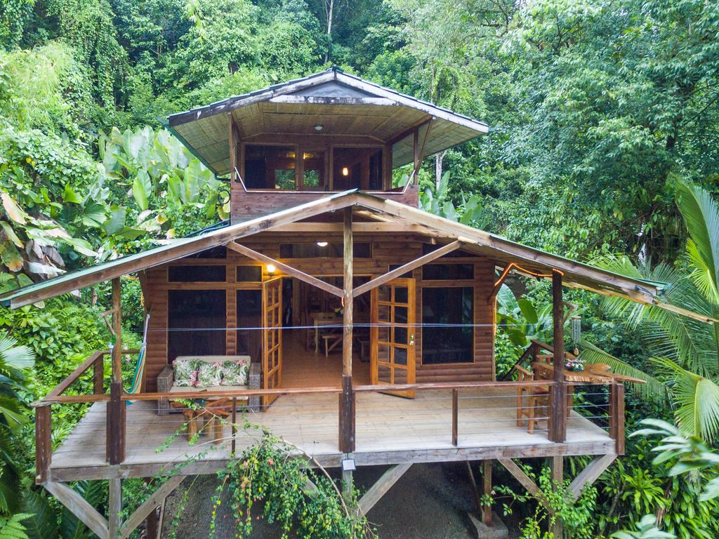 two story balcony Two Story Eco Friendly Cabin W A Full Kitchen Two Furnished Balconies Piedras Blancas