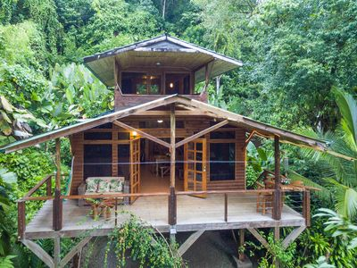 Photo for Two-story, eco-friendly cabin w/ a full kitchen & two furnished balconies
