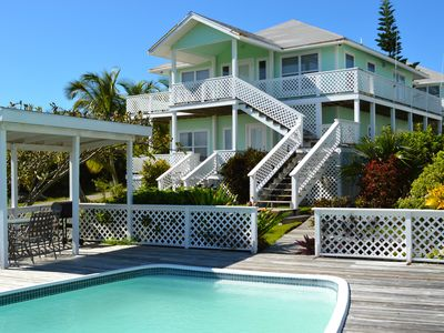 Photo for An estate in paradise; facing the ocean w/ a guest pool, near Tahiti Beach!