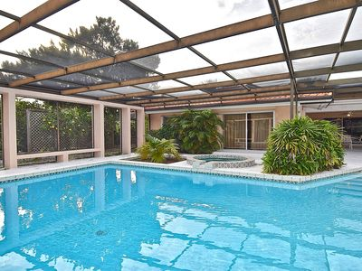 Beautiful, Spacious 3 bedroom Home in Siesta Key with Pool, Large Lanai & Boat Dock. Small Dogs Considered
