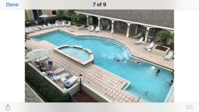 POOL VIEW, modern condo near Gulf of Mexico Beaches. Retreat for two.