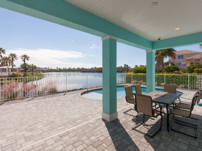 Photo for Coastal Breeze Waterfront Home! Private Pool, 5 Bedroom Suites!