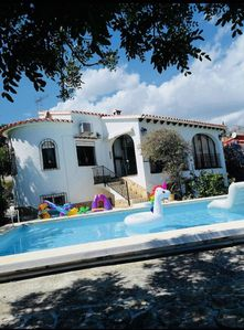 Photo for Charming Spanish house, stunning views of mountains and pool & olive grove