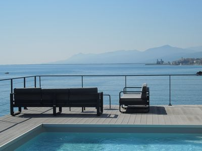 Photo for 4 Bedroom Architect Villa, Pool, Air Conditioning, Direct Sea Access