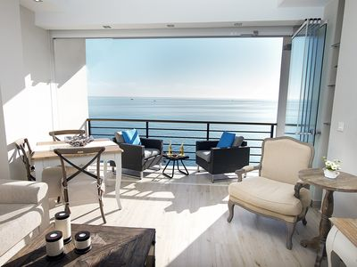 Photo for DELUXE APARTMENT - FIRST LINE BEACH, SWIMMING POOL, SATELLITE TV, FREE WIFI