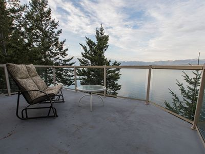 Photo for Lakefront retreat w/ great water views, private hot tub, sauna, & dock! Dogs OK!