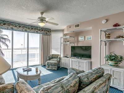 Photo for Crescent Shores 808, 3 Bedroom Beachfront Condo, Hot Tub and Free Wi-Fi!