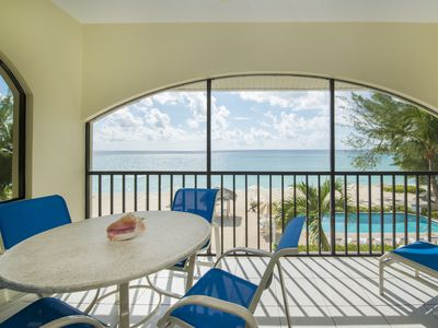 Photo for Oceanfront Condo Steps Away From Beautiful Seven Mile Beach