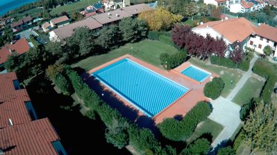 Photo for Apartment la Cicletta - TWO-ROOM APARTMENT with pool and tennis in LAZISE
