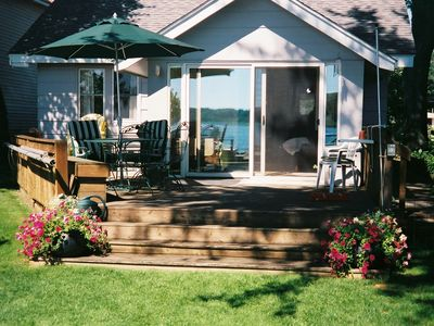 Front Deck on Mona Lake