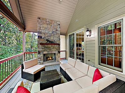 Deck - Welcome to Flat Rock! This home is professionally managed by TurnKey Vacation Rentals.