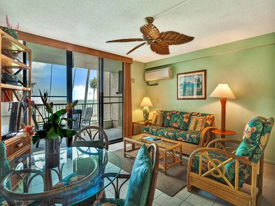 Photo for Pacific View+Island Style! Full Kitchen, Lanai, Washer/Dryer, WiFi, AC–Kona Reef B14