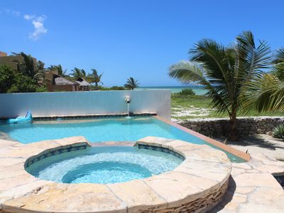 Photo for Stunning beachfront villa with wifi and infinity pool