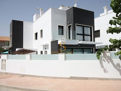 Photo for Modern villa with heated private pool, 3 bedrooms, 2 bathrooms, sleeps 6